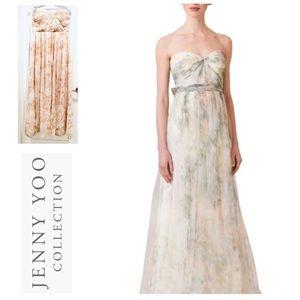 JENNY YOO COLLECTION Floral Chiffon Dress size 14